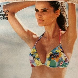 NWOT Victoria's Secret Push Up Floral Bikini 36C